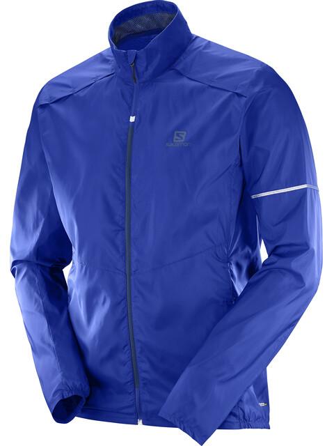 Salomon Agile Running Jacket Men blue